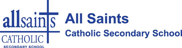 All Saints Catholic Secondary School logo